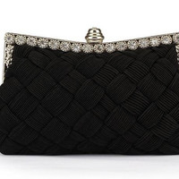 Women's Knitted Diamond Day Clutch