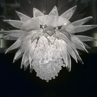 Indirect light crystal chandelier LOTUS FLOWER Contemporary & Sculptural Lighting Collection by Lasvit | design Petra Rehorová