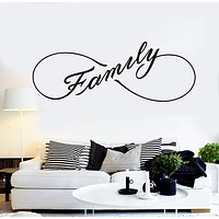 Vinyl Wall Decal Family Infinity Home Room Decor Stickers Mural Unique Gift (ig4640)