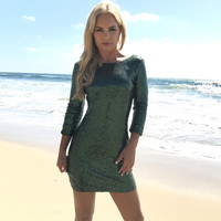 Glitz In Green Sequin Dress