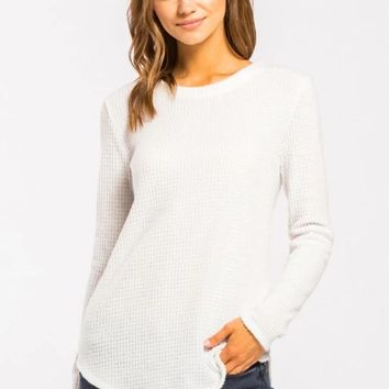Everyday Waffle Long Sleeve Top
