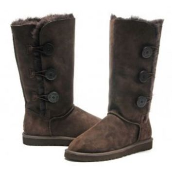Discount China Wholesale UGG Bailey Button Triplet Boots 1873 Chocolate [#UGG18734]- US$98.00 - 365tradesmart
