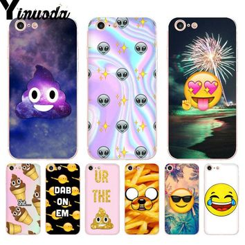 Yinuoda For iphone 7 6 X Case boss Bitch mode on pink Shit Emoji art  Phone Case for iPhone 8 7 6 6S Plus X 5 5S SE 5C XS XR