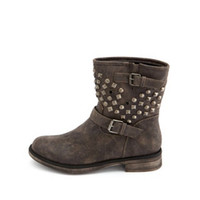 STUDDED DOUBLE BUCKLE MOTO BOOTIE