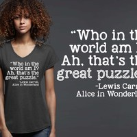 Who In the World Am I T-shirt | Alice In Wonderland