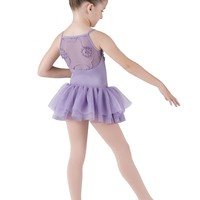 Bloch Valentina Swirl Flower Girls Tutu Camisole Leotard