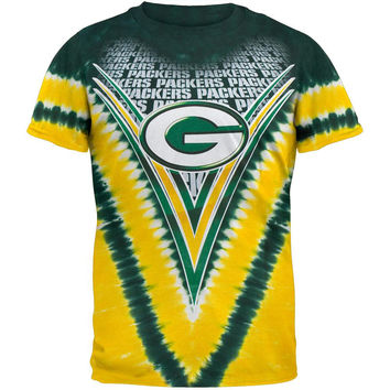 Green Bay Packers - Logo V-Dye Tie Dye T-Shirt