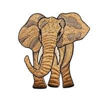 ID 0688 Elephant Safari Wild Animal Embroidered Iron On Applique Patch