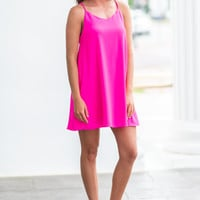 So Worth The Wait Dress, Hot Pink