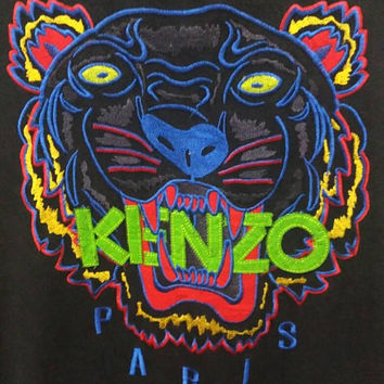 Kenzo Paris Sweatshirt Tigers big logo Embroidery spellout