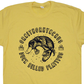 Duck-Billed Platypus T Shirt Funny Animal T Shirt Vintage T Shirt