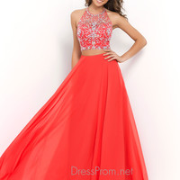 Blush Two Piece Long Prom Dress 9935