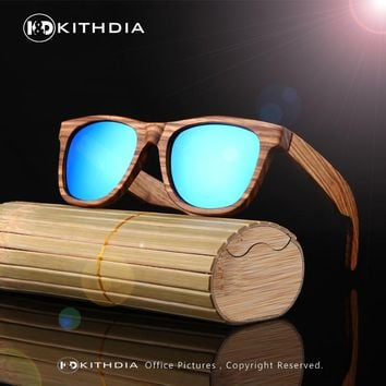 Factory Price! Handmade Real Wooden Frame Sunglasses Polarized Eyeglasses Colorful Reflective lens Men Or Women Wood sunglasses