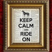Our Original KEEP CALM and RIDE On Horse Vintage by EncorePrints