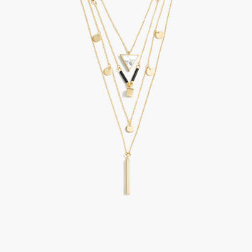 J.Crew Womens Layered Charm Necklace