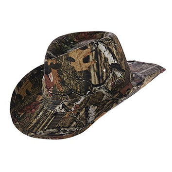 NEW MOSSY OAK BREAK-UP INFINITY 3 INCH BRIM TWILL OUTBACK CAMO HUNTING HAT (MO25) (LARGE)