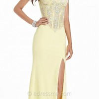 Strapless Jeweled Corset Dress by Tony Bowls Paris