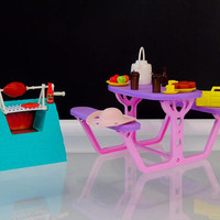 Vintage Barbie Picnic Set Barbecue Grill Table 1989 Mattel Arco Barbie So Much To Do Accessories Set
