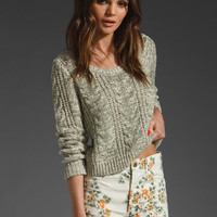 Free People Cabletown Pullover in Sea Mist Combo from REVOLVEclothing.com