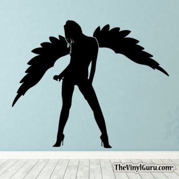 Sexy Angel Pin-Up Girl Wall Decal X