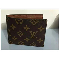 SELLING LOUIS VUITTON MEN BLACK LEATHER WALLET H1102