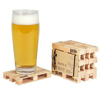 Labrynth Pallet Coasters