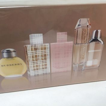BURBERRY, BRIT, BRIT SHEER, BODY, THE BEAT 5 PC MINIATURE WOMENS GIFT SET
