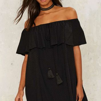 Nasty Gal Moving Tassel Mini Dress