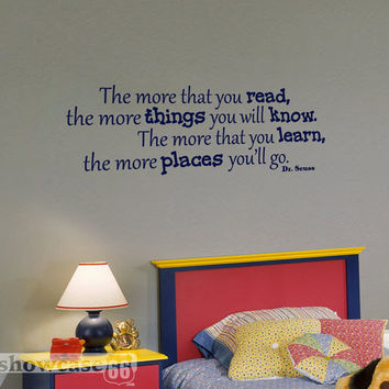 The More Places You'll Go - Vinyl Wall Art - FREE Shipping
