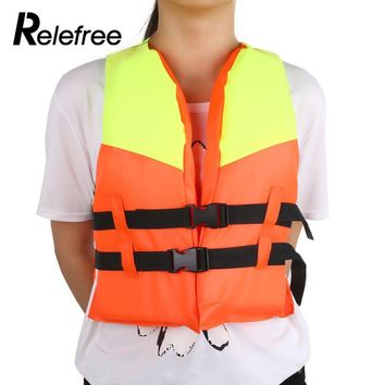 Relefree Adjustable Child Water Sports Vest  Life jacket Fishing Life Saving Vest Inflatable Life Jacket For Kids Water Sport