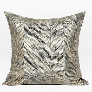 """Gold and Black Thin Stripe Pillow 20""""X20"""""""