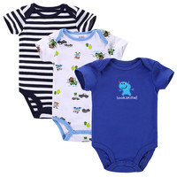 3pcs/lot Baby Romper Short Sleeve Cotton Carters Baby Boy Girl Clothes Baby Wear Jumpsuits Clothing Set Body Suits