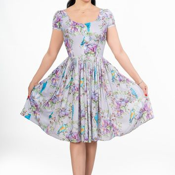 Florence Dress in Mr. Blue Bird Rayon