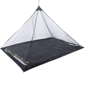 Outdoor Mosquito Nets Triangle Mosquito Net Tent Shelter for Camping Fishing Hiking Garden (Black)