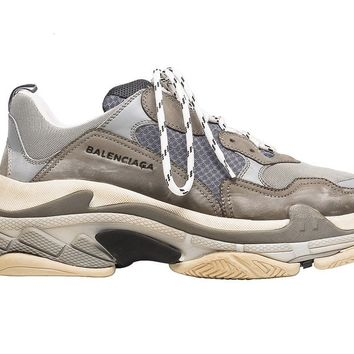 Balenciaga Triple S Sneakers Gray Size 11 (EU 44) DS Completely New