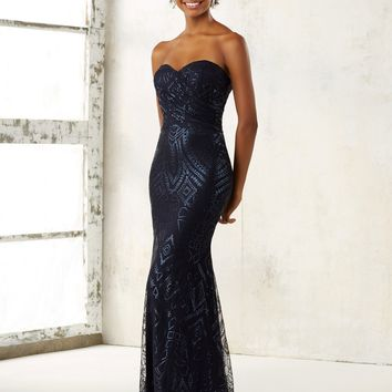 Morilee Bridesmaids 21508 Strapless Fitted Sequin Bridesmaids Dress