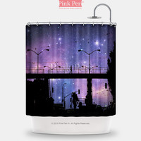 San Francisco City Photo Starry Night Shower Curtain Home & Living 119