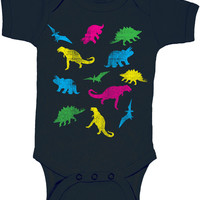 Dinosaur Prints Colorful Baby Onesuit