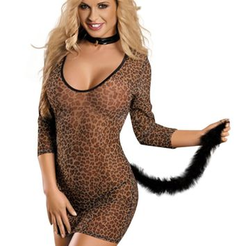 YesX Sexy Lingerie Leopard Animal Print Costume