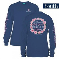 """*Closeout* Youth Simply Southern Long Sleeve - """"Let All"""""""