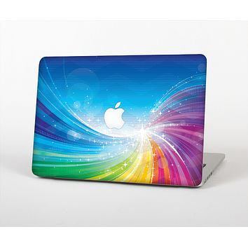 The Rainbow Hd Waves Skin Set for the Apple MacBook Air 11""