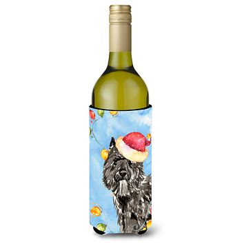 Christmas Lights Bouvier des Flandres Wine Bottle Beverage Insulator Hugger CK2470LITERK