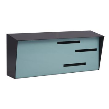 Mid Century Modern Mailbox | Horizontal | Handmade in the USA | Locking