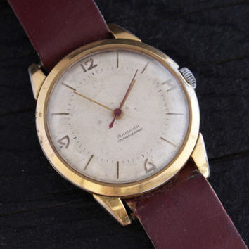 Vintage Mir mens watch 18 jewels gold plated russian watch ussr ccp soviet watch