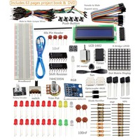 SunFounder Project Super Starter Kit with Tutorial Book for Arduino UNO R3 Mega2560 Mega328 Nano (Super Starter Kit) - Including 73 Page Instructions Book