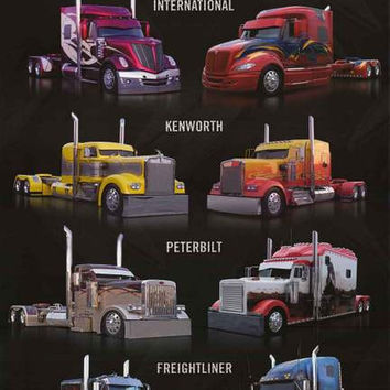 Super Rigs Semi Trucks Poster 24x36