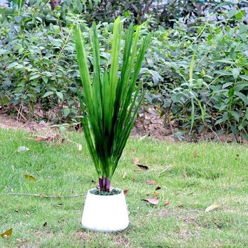 4pcs Artificial Gladioli Orchid Evergreen Plant Tree Wedding Home Garden Decor Green No Vase F399