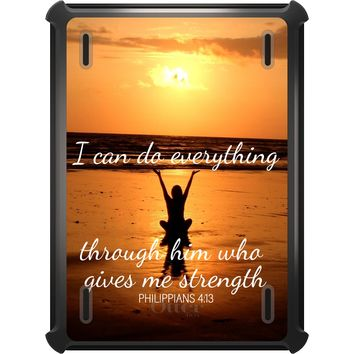 DistinctInk™ OtterBox Defender Series Case for Apple iPad - Philippians 4:13 - I can do everything through Him who gives me strength