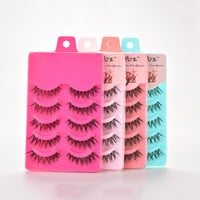 New 5 Pairs Natural Soft Eye Lashes Makeup Handmade Thick Fake False Eyelashes