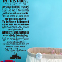 In This House We Let it Go Vinyl Quote Wall Decal